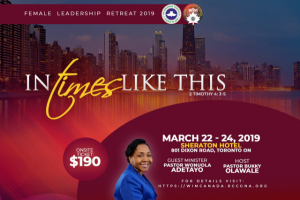 Women in Ministry Conference, Canada @  Sheraton Toronto Airport Hotel & Conference Centre