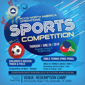 RCCGNA Operations Sports Competition