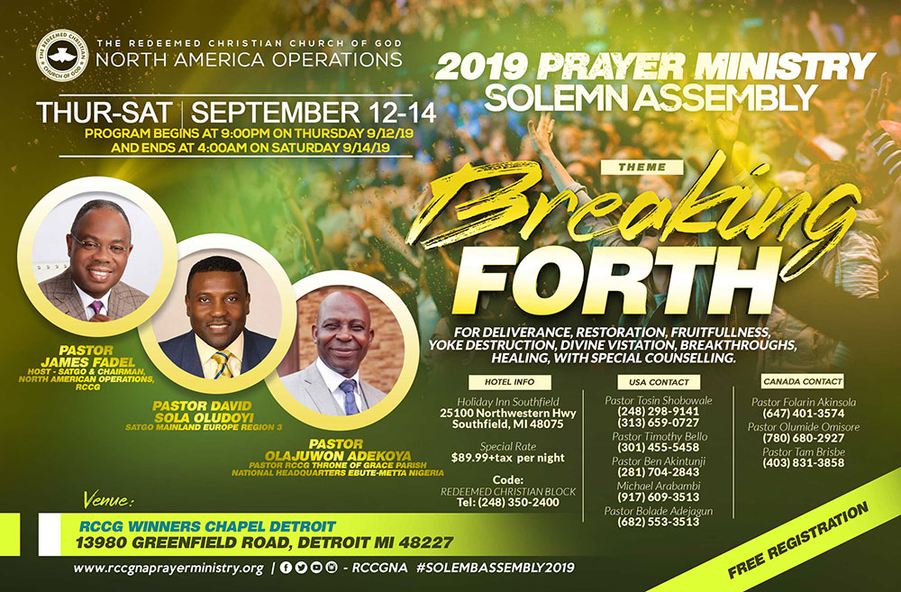 2019 Prayer Ministry Solemn Assembly