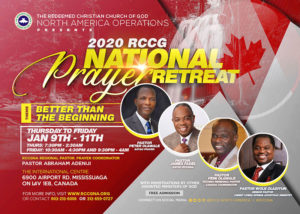 2020 RCCG National Prayer Retreat - Canada @ The International Centre