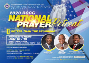 2020 RCCG National Prayer Retreat -USA @ Dayspring Conference Centre - Redemption Camp